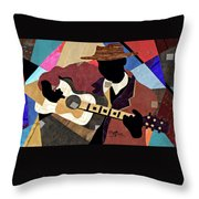 Blues Boy Throw Pillow