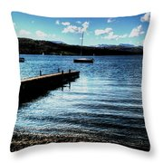 Boats In Wales Throw Pillow