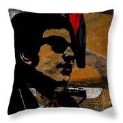 Bob Dylan Recording Session Throw Pillow