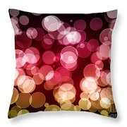 Bokeh Background Throw Pillow