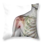 Bones Of The Shoulder Throw Pillow