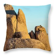 Boulders In A Desert, Joshua Tree Throw Pillow