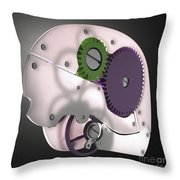 Brain Mechanism Throw Pillow