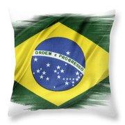 Brazilian Flag  Throw Pillow