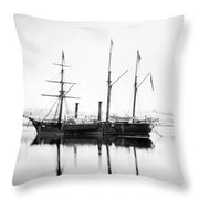 Brazilian Steamship, 1863 Throw Pillow