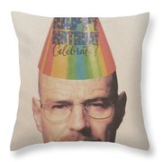 Breaking Bad Walter White Happy Birthday Throw Pillow