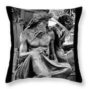 Brewer Fountain Boston Ma Throw Pillow