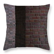 Brick Columns Throw Pillow