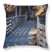 Bridge To The Forest Throw Pillow