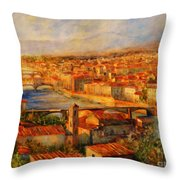 Bridges Of Florence Throw Pillow