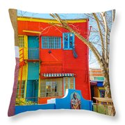 Bright Colors In Buenos Aires Throw Pillow
