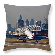 British Airways London Throw Pillow