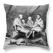 British Prison Ship, 1770s Throw Pillow