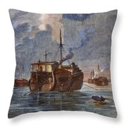 British Prison Ship Throw Pillow