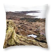 Brittany Coast Throw Pillow