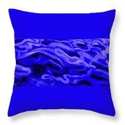 Brush Strokes In Blue Throw Pillow