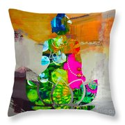 Buddah On A Lotus Throw Pillow