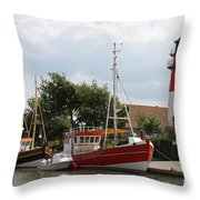 Buesum Lighthouse - North Sea - Germany Throw Pillow