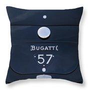 Bugatti Type 57 Throw Pillow