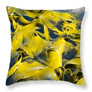 Bull Kelp Blades On Surface Background Texture Throw Pillow