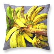 Bunch Of Banana Throw Pillow
