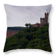 Burg Sooneck Am Rhine Throw Pillow
