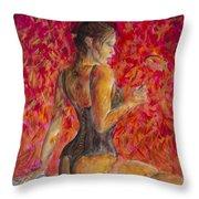 Burlesque II Throw Pillow