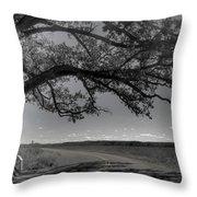 Burr Oak Tree Throw Pillow