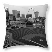 Busch Stadium Saint Louis Mo Throw Pillow