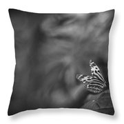 Butterfly Black And White Throw Pillow