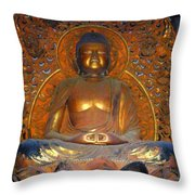 Byodo In - Amida Buddha Throw Pillow