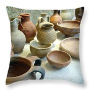 Byzantine Pottery Throw Pillow
