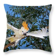 Cacatoes A Huppe Orange Cacatua Throw Pillow