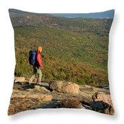 Cadillac Mountain, Acadia National Park Throw Pillow