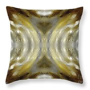 Cafe Au Lait Kaleidoscope Throw Pillow