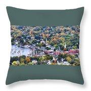 Camden Maine Harbor Throw Pillow