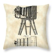 Camera Patent 1885 - Vintage Throw Pillow