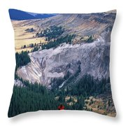 Camping On The Colorado Trail Throw Pillow