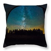 Camping Under The Stars Throw Pillow
