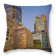 Canary Wharf. Throw Pillow
