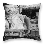 Jazz Cannonball Adderly Throw Pillow