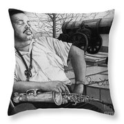 Jazz Cannonball Adderly Throw Pillow