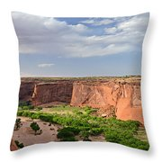 Canyon De Chelly From Sliding House Overlook Throw Pillow