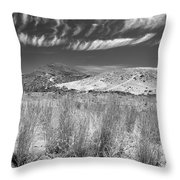 Capricious Clouds In The Volcanic Planet Throw Pillow