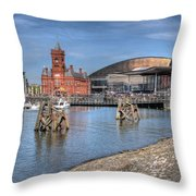 Cardiff Bay Throw Pillow