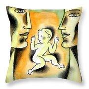 Caring Family Throw Pillow