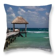 Caribbean Landing Throw Pillow