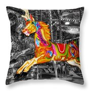 Carousel In Bournemouth Throw Pillow