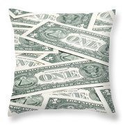 Carpet Of One Dollar Bills Throw Pillow