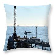 Carpinteria Pier Throw Pillow